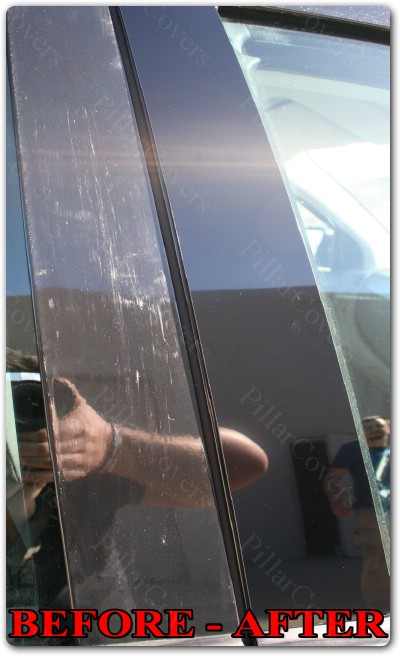 Chrome Pillar Posts Set Door Trim Mirror Cover